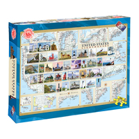 BPLH - America's Story Jigsaw Puzzle - Lighthouses of the United States