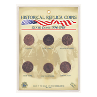 CRCASC - Replica Coin Set - Colonial American State Coins