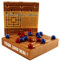 GBNML - Nine Men's Morris Wooden Traveler with YOUR LOGO
