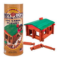RTCC - Roy Toy Log Cabin Canister (140+ pieces)