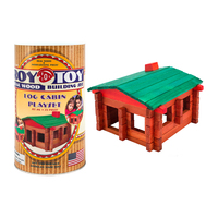 RTMCC - Roy Toy Log Cabin Mini Canister (73 pieces)